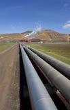 Central eléctrica geotérmica en Islandia Fotografía de archivo