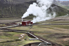 Central eléctrica Geothermal Imagens de Stock Royalty Free