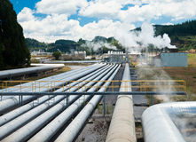 Central eléctrica Geothermal imagens de stock