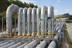 Central eléctrica Geothermal fotos de stock