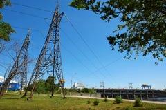 Central eléctrica hidráulica Imagen de archivo libre de regalías