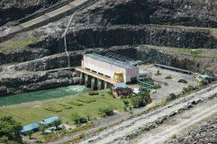 Central eléctrica hidráulica fotos de archivo libres de regalías