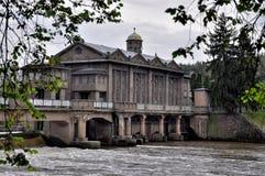 Central eléctrica histórica de agua Podebrady Fotografía de archivo