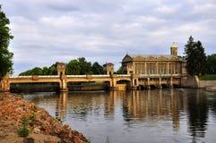 Central eléctrica histórica de agua Podebrady Imagen de archivo