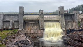 Central eléctrica Hydroelectric em Imatra imagens de stock royalty free