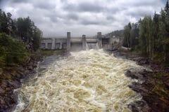 Central eléctrica Hydroelectric em Imatra fotografia de stock