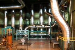 Central eléctrica interior Foto de archivo libre de regalías
