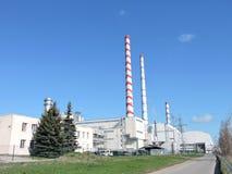 Central eléctrica, Lituania Foto de archivo