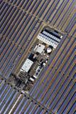 Central eléctrica parabólica solar Imagen de archivo