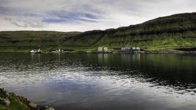 Central eléctrica que enciende para arriba al capital de los Faroe Island, Dinamarca, Europa Fotos de archivo