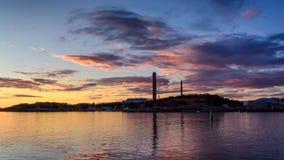 Central eléctrica según lo visto de redstone Fotos de archivo
