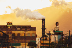 Central eléctrica sucia Fotografía de archivo