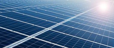 Central eléctrica usando energía solar renovable Foto de archivo libre de regalías