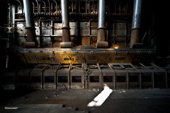 Central eléctrica vieja imagen de archivo libre de regalías