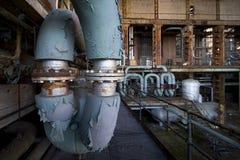 Central eléctrica vieja foto de archivo