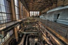 Central eléctrica vieja imagen de archivo
