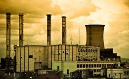 Central eléctrica vieja Fotos de archivo
