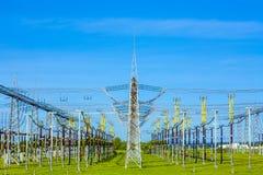 Central eléctrica y estación de la distribución Fotografía de archivo