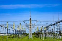 Central eléctrica y estación de la distribución Foto de archivo