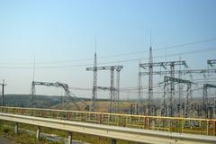 Central elétrica fotografia de stock