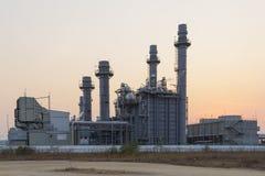 Central elétrica bonde da turbina de gás Fotos de Stock