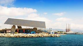 Central elétrica da indústria em Barcelona, Espanha Fotos de Stock Royalty Free