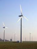 Central elétrica de energias eólicas Imagem de Stock Royalty Free