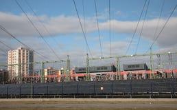 Central elétrica de energias solares Imagens de Stock