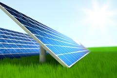 Central elétrica de energias solares foto de stock royalty free