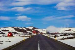 Central elétrica de Islândia fotos de stock