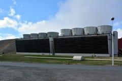 Central elétrica de Krafla em Islândia Foto de Stock