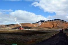 Central elétrica de Krafla em Islândia Imagem de Stock