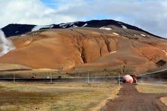 Central elétrica de Krafla em Islândia Imagens de Stock