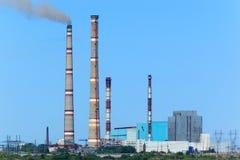 Central elétrica de Ryazan Foto de Stock Royalty Free