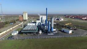 Central elétrica do thermal do parque industrial video estoque