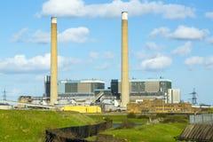 Central elétrica do Tilbury: Eletricidade. Foto de Stock Royalty Free