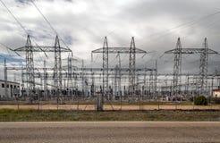 Central elétrica elétrico fotos de stock