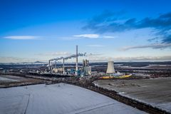 Central elétrica em Melnik em República Checa imagem de stock royalty free