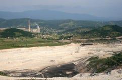 Central elétrica em Pljevlja fotografia de stock