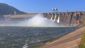 Central elétrica hidroelétrico video estoque