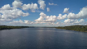Central elétrica hidroelétrico de Plavinas, Daugava, Letónia Imagem de Stock