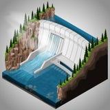 Central elétrica hidroelétrico do rio Fotos de Stock