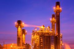 Central elétrica na instalação petroquímica Fotografia de Stock Royalty Free