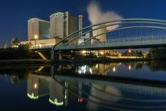 Central elétrica Stoecken por Hannover em Alemanha Foto de Stock