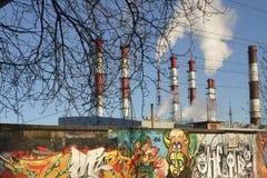 Central elétrica termoelétrico Imagens de Stock Royalty Free