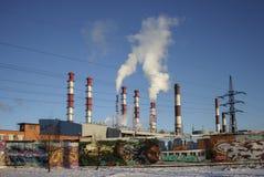 Central elétrica termoelétrico Fotos de Stock Royalty Free