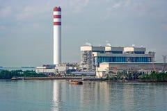 Central eléctrica con carbón Imagenes de archivo