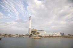 Central eléctrica da leitura Fotos de Stock Royalty Free