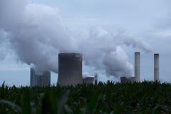 Central eléctrica de carbón Fotografía de archivo libre de regalías