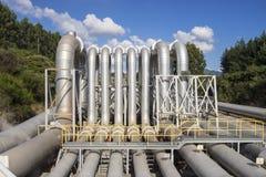 Central eléctrica geotérmica Fotografía de archivo libre de regalías